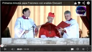 primeros miutos papa francisco con analisis elocuent