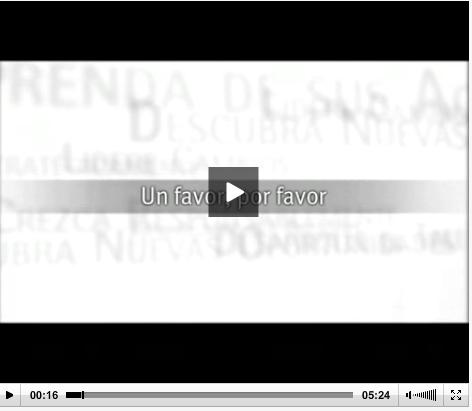 video gestión de favores un favor por favor DAR Elocuent