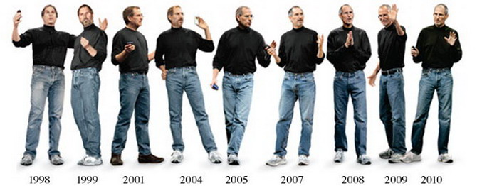 evolution of steve jobs fashion