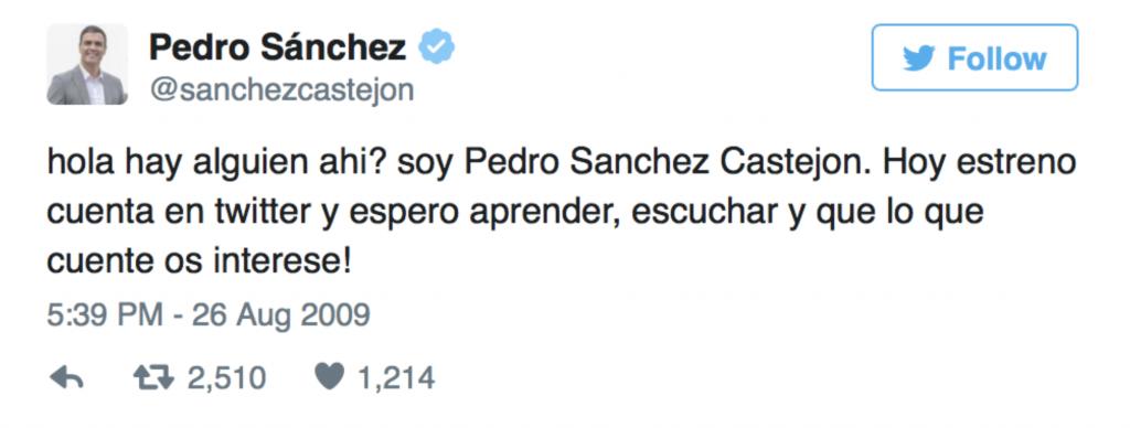 tuit Pedro Sánchez