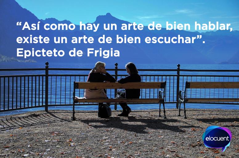 """Epicteto de Frigia: """"Así como hay un arte de bien hablar, existe un arte de bien escuchar"""""""