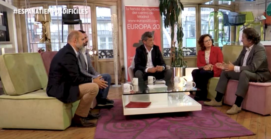 El fundador de Elocuent participa en el programa 'España, tiempos difíciles' para debatir sobre la libertad de expresión